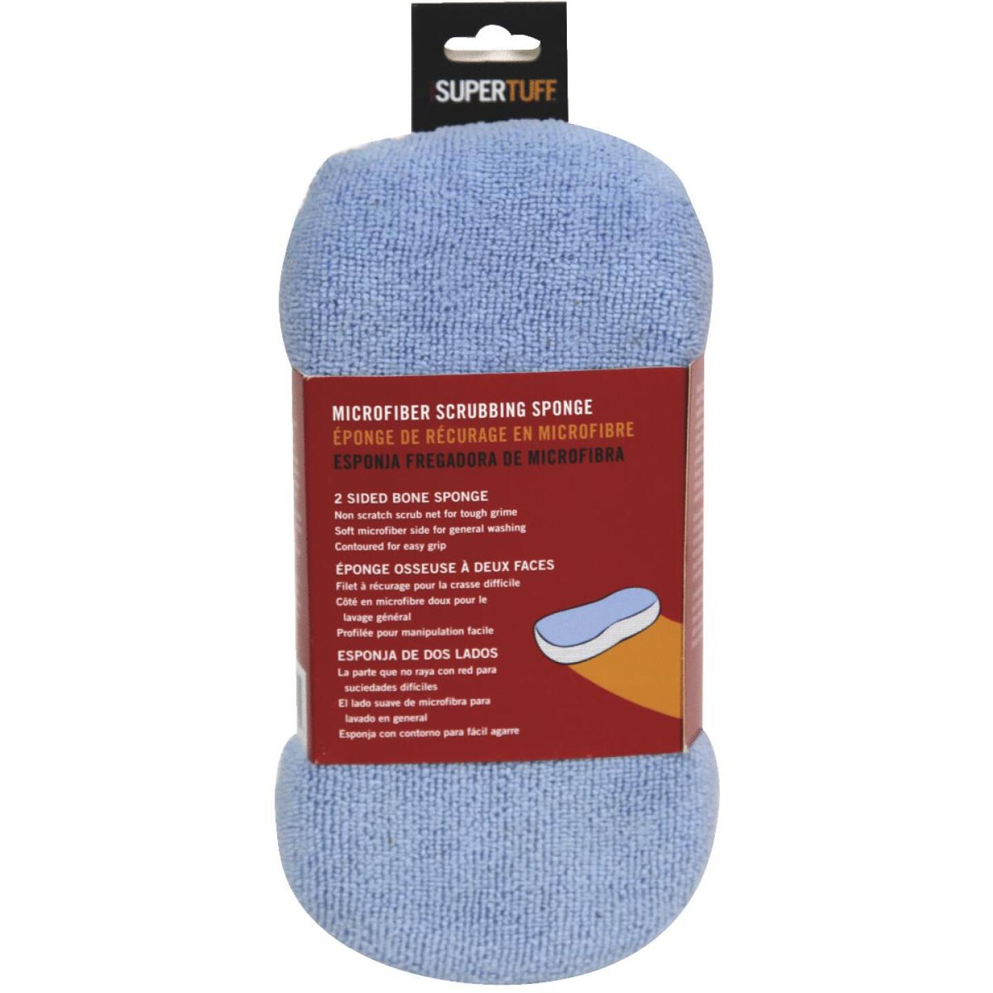 Trimaco SuperTuff 4 In. W x 8-1/2 In. L Microfiber Car Wash Sponge Image 1