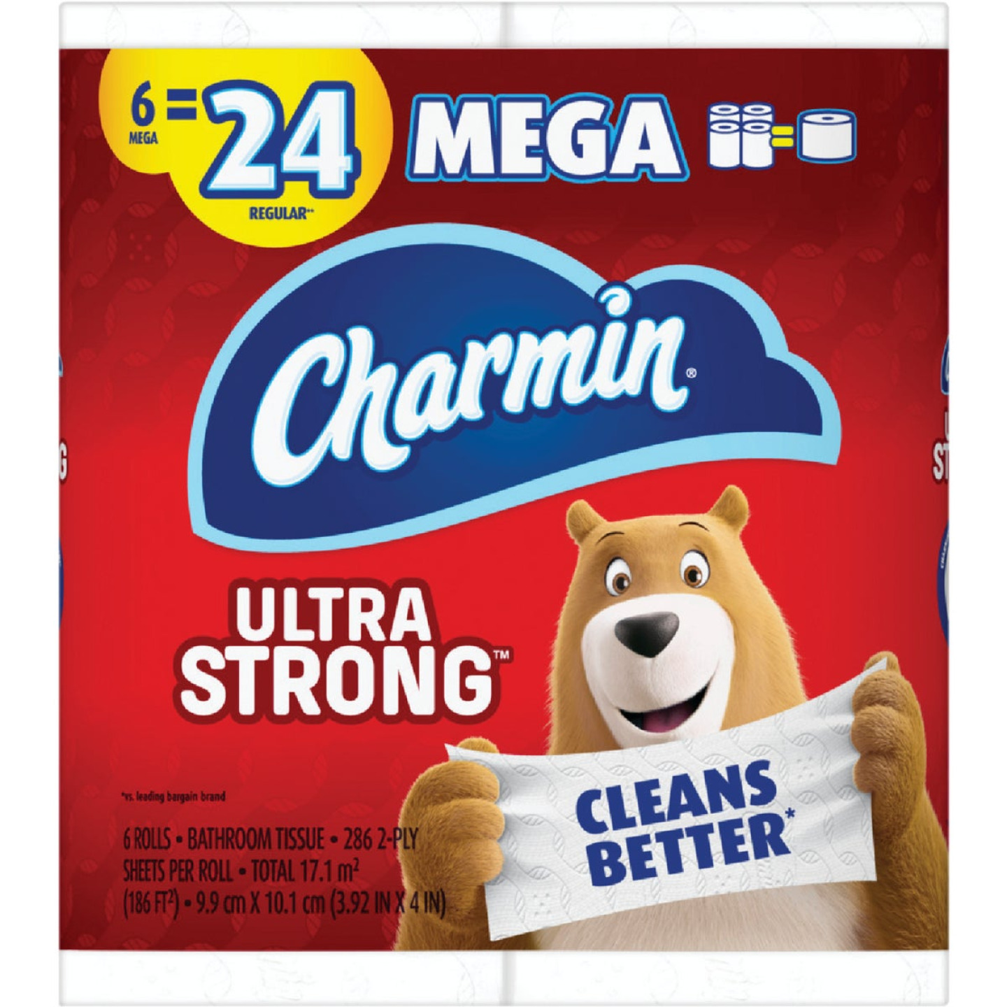 Charmin Ultra Strong Toilet Paper (6 Mega Rolls) Image 1