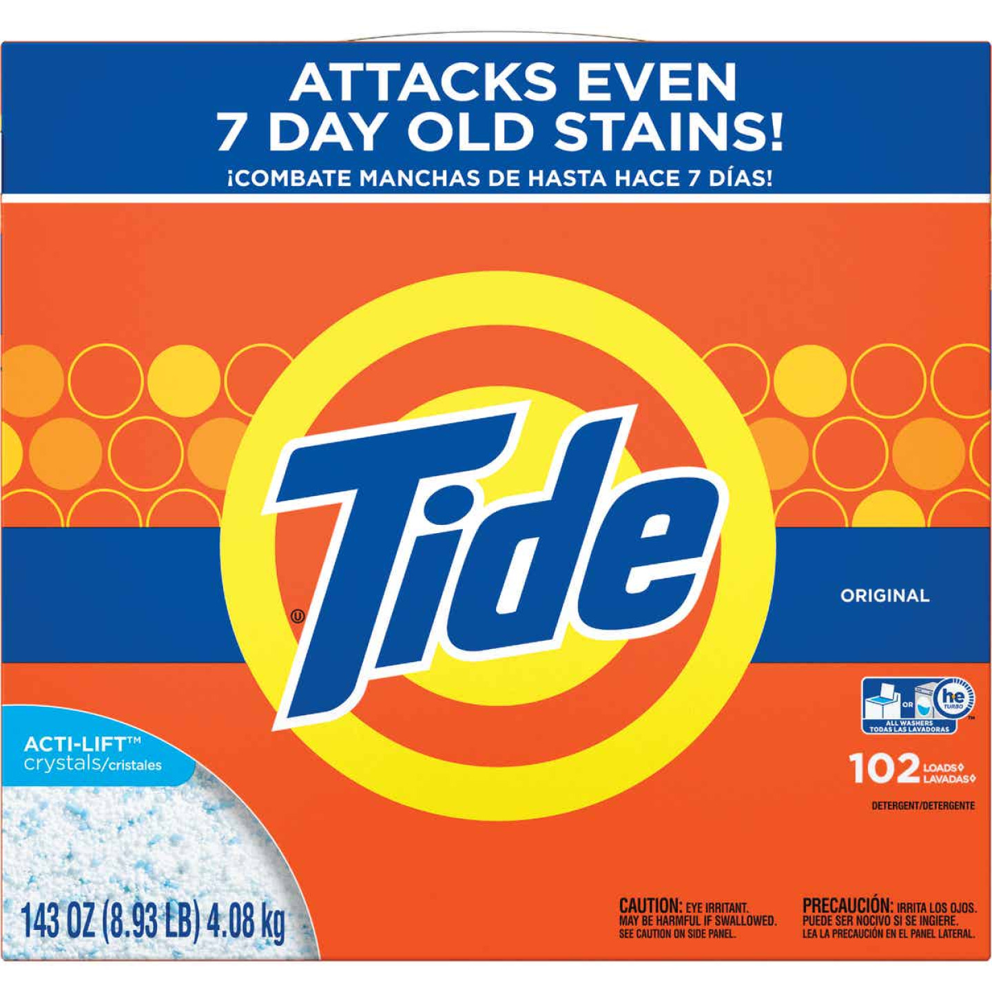 Tide 143 Oz. 102 Load Powder Laundry Detergent Image 1