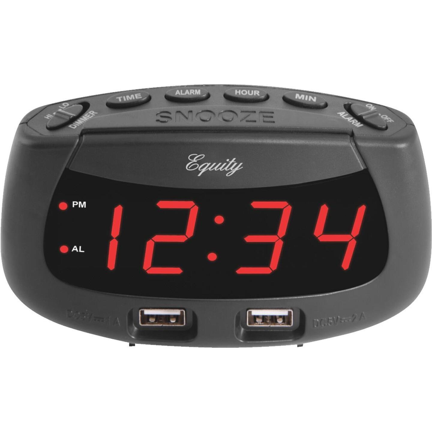 La Crosse Technology Equity Dual USB Electric Alarm Clock Image 1