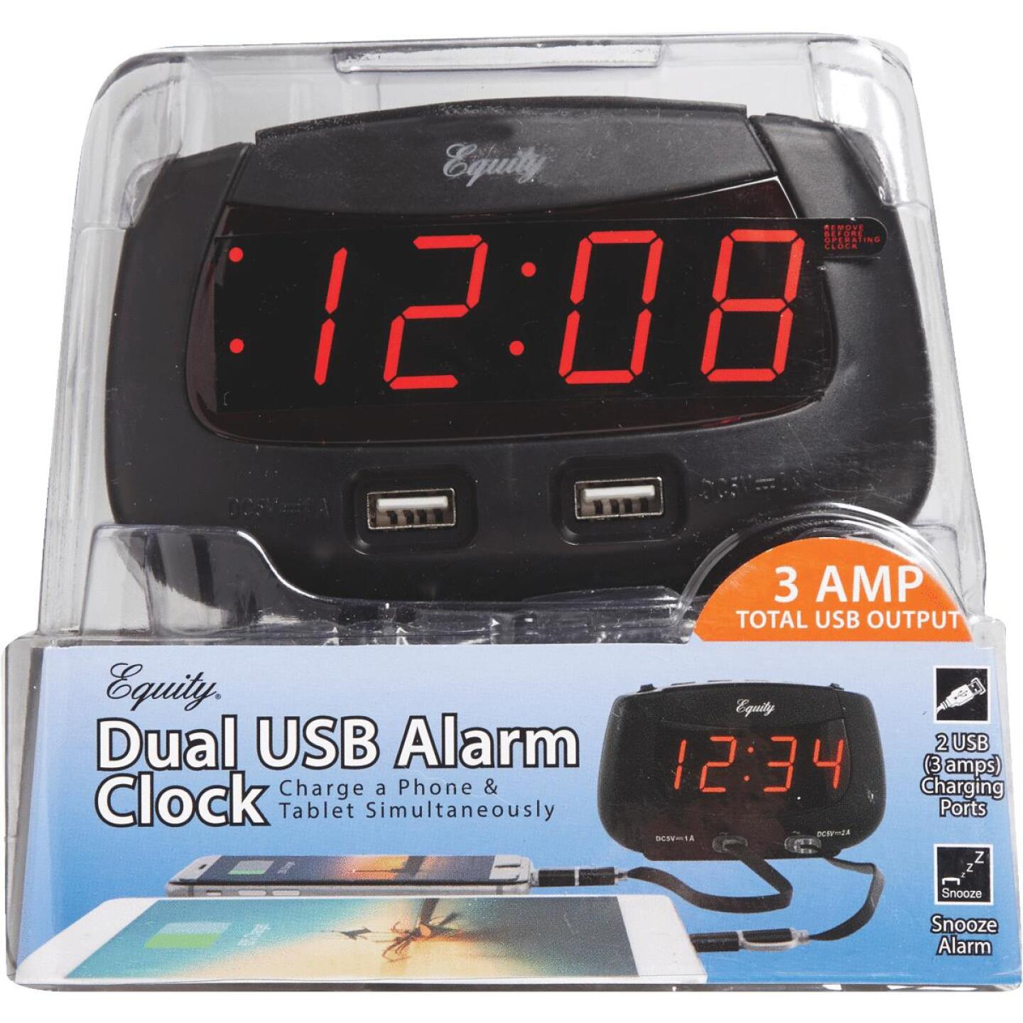 La Crosse Technology Equity Dual USB Electric Alarm Clock Image 2