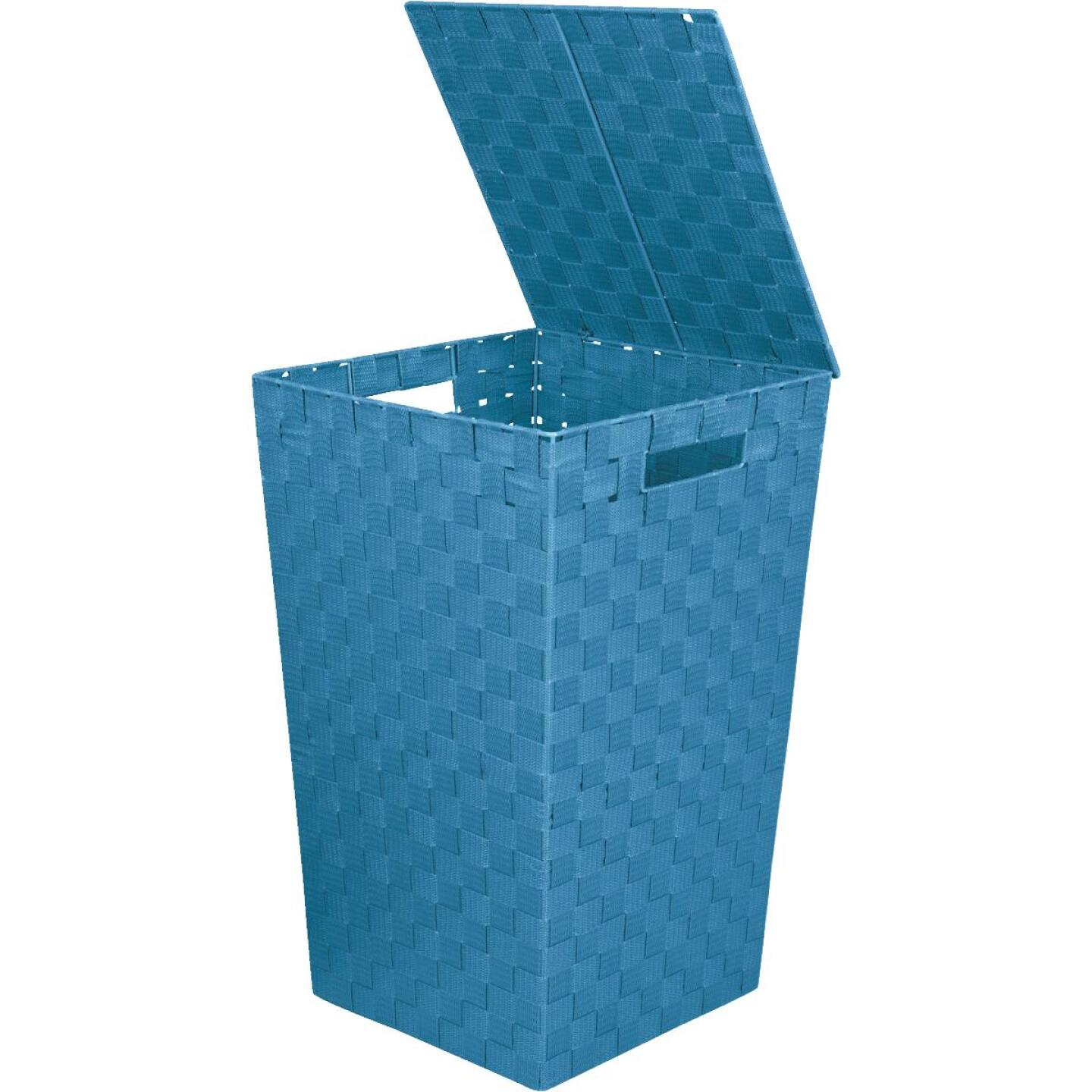Home Impressions 13 In. x 20.5 In. H. Woven Laundry Hamper, Blue Image 1
