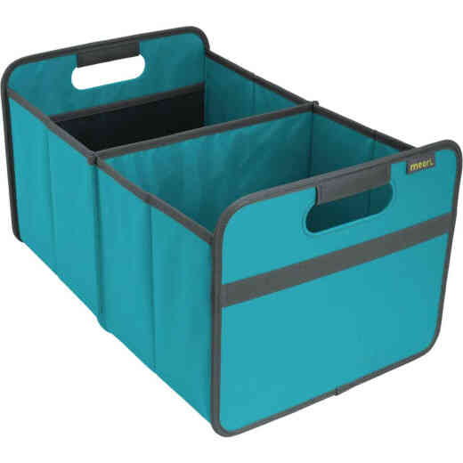 Meori 2-Compartment Azure Blue Foldable Reusable Box