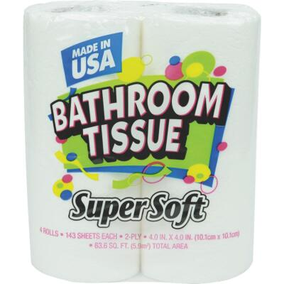 Super Soft Toilet Paper (4 Regular Rolls)