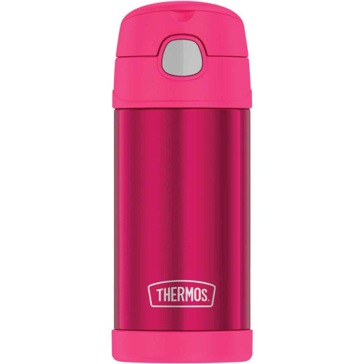Thermos Funtainer 12 Oz. Pink Stainless Steel Water Bottle With Straw