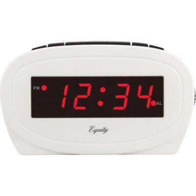 La Crosse Technology Equity White Electric Alarm Clock