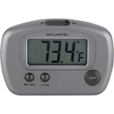 "Acurite 2-3/4"" W x 3-1/8"" H Plastic Digital Indoor & Outdoor Thermometer"