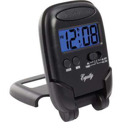 La Crosse Technology Equity LCD Travel Alarm Clock