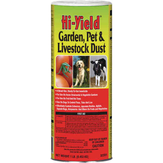 Hi-Yield 1 Lb. Ready To Use Pet, Livestock, & Garden Dust Insect Killer