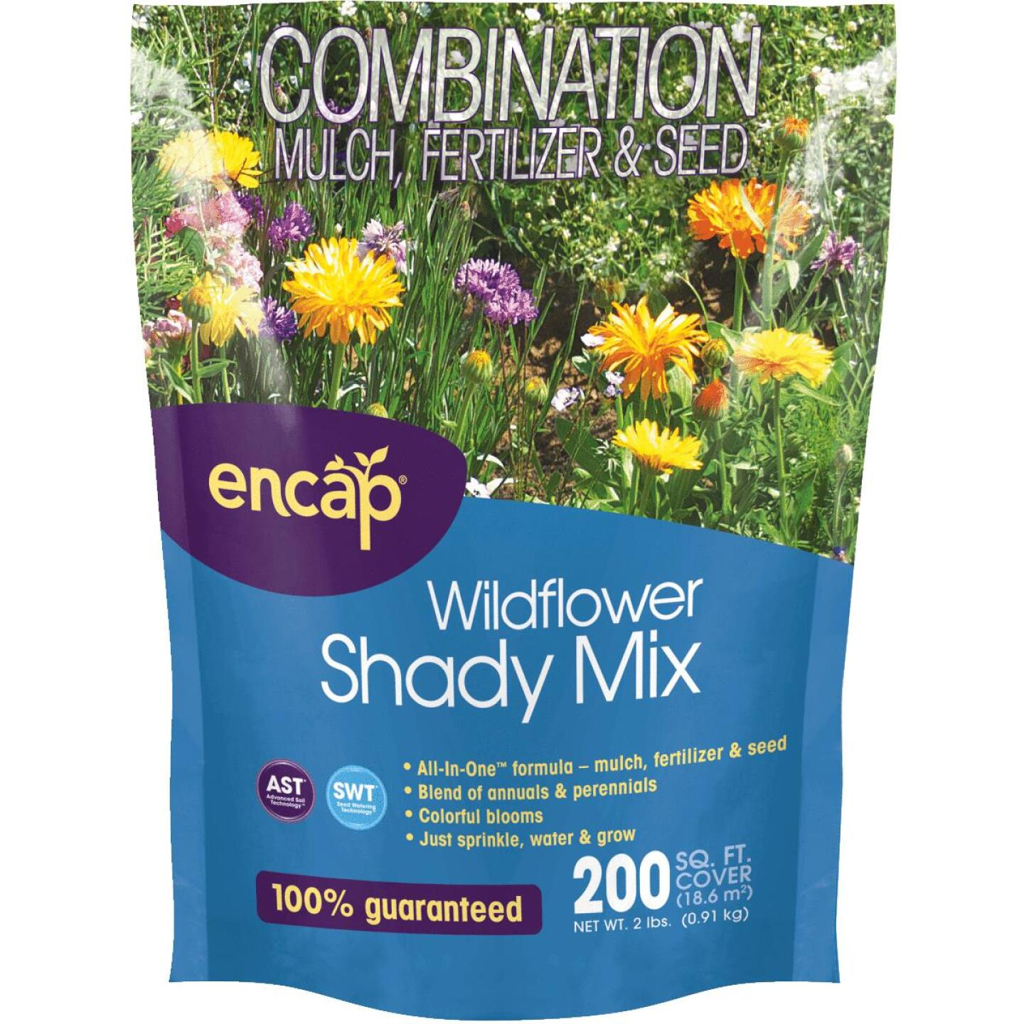 Encap All-In-One 2 Lb. 200 Sq. Ft. Coverage Shady Wildflower Seed Mix Image 1