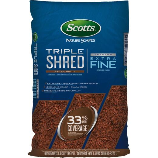 Scotts Naturescapes 1.5 Cu. Ft. Brown Triple Shredded Wood Mulch