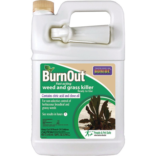 Bonide BurnOut 1 Gal. Ready To Use Trigger Spray Organic Weed & Grass Killer