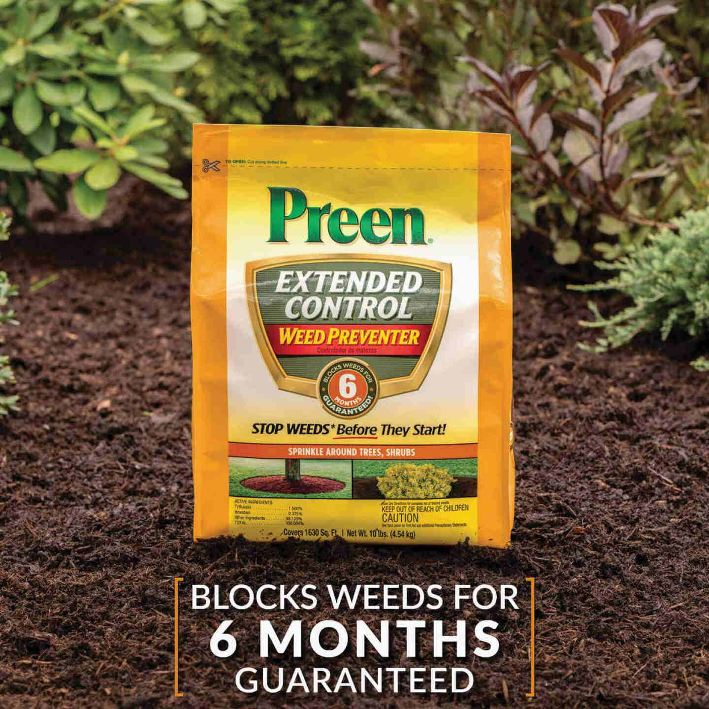 Preen Extended Control Weed Preventer, 10 Lb. Image 3