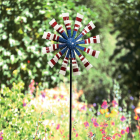 Alpine 75 In. H. Metal Patriotic Windmill Garden Stake Lawn Ornament Image 2