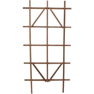 Panacea 48 In. Brown Wood Ladder Trellis