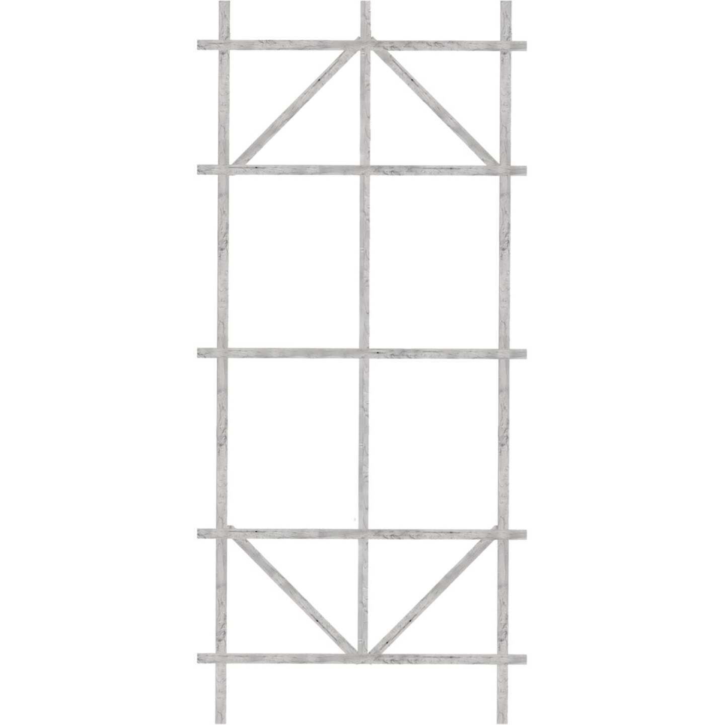 Panacea 48 In. White Wood Ladder Trellis Image 1