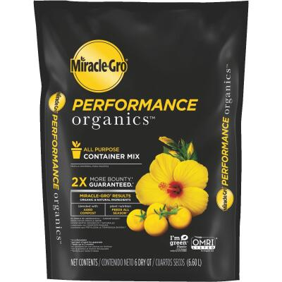 Miracle-Gro Performance Organics 6 Qt. 3 Lb. All Purpose Container Potting Soil