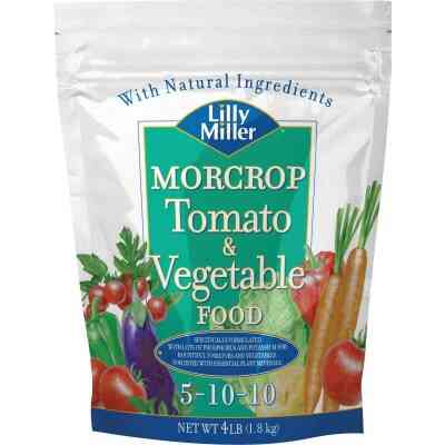 Lilly Miller Morcrop 4 Lb. 5-10-10 Tomato & Vegetable Dry Plant Food