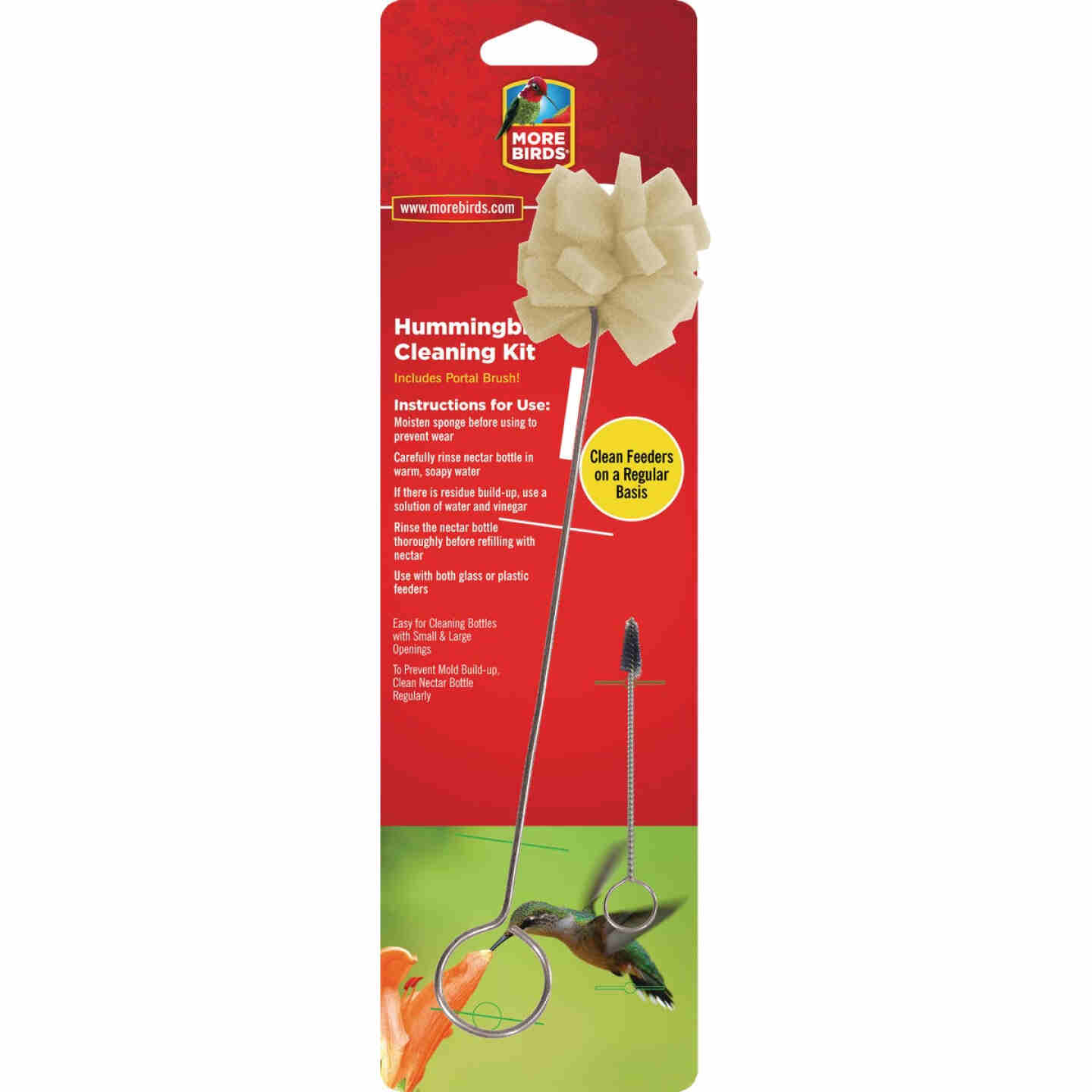 More Birds Hummingbird Feeder Foam Sponge Cleaning Kit Image 1