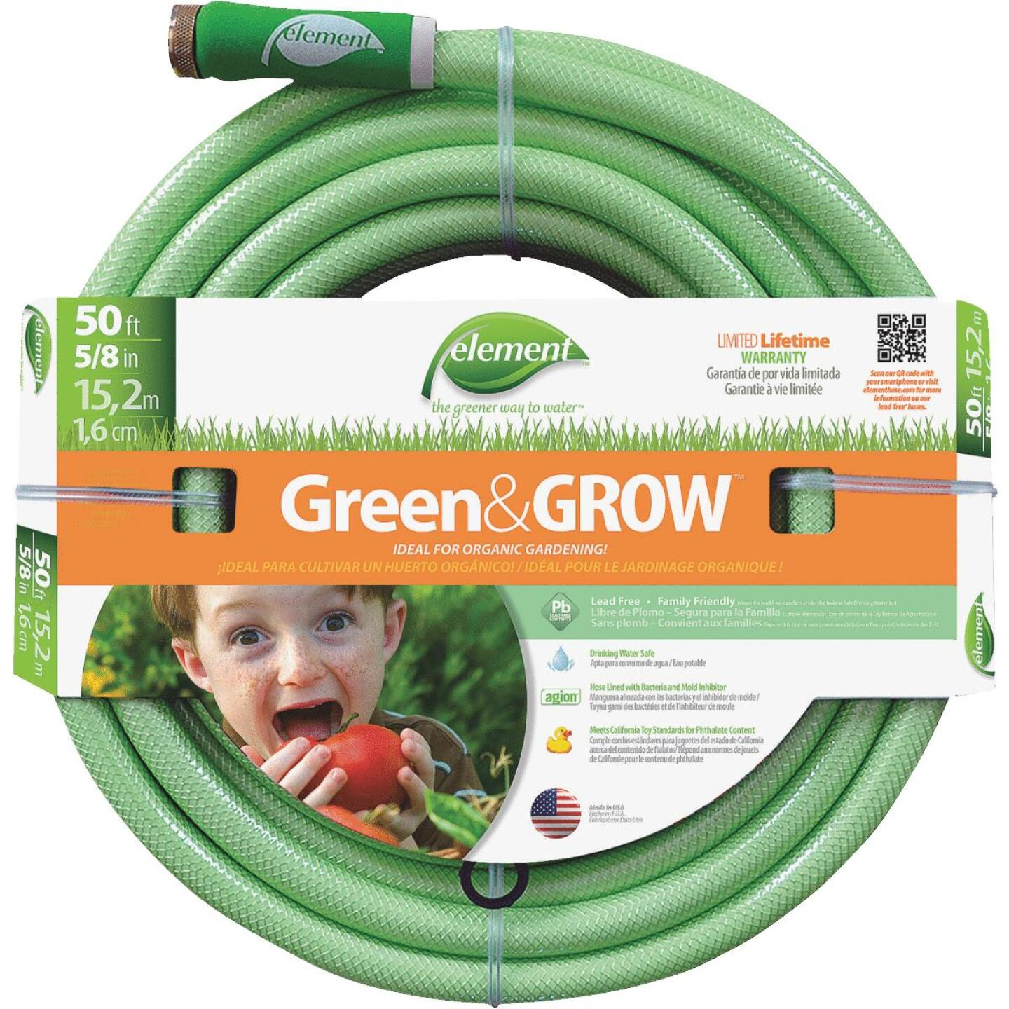 Element Green & Grow 5/8 In. Dia. x 50 Ft. L. Drinking Water Safe Garden Hose Image 1