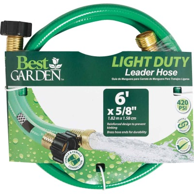 Best Garden 5/8 In. Dia. x 6 Ft. L. Leader Hose with Male & Female Couplings