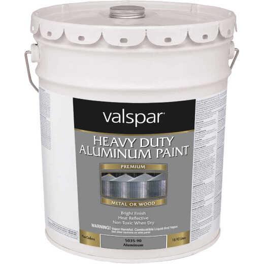 Valspar 5 Gal Aluminum HD Resin Finish Aluminum Paint