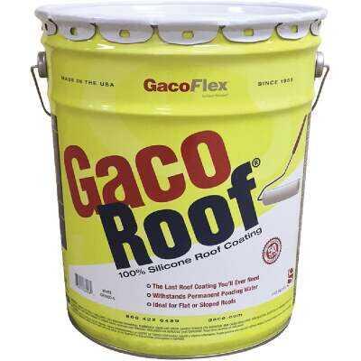 GacoFlex GacoRoof Silicone Roof Coating, White, 5 Gal.