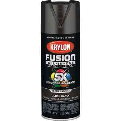 Krylon Fusion All-In-One Gloss Spray Paint & Primer, Black