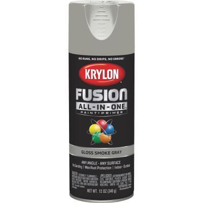 Krylon Fusion All-In-One Gloss Spray Paint & Primer, Smoke Gray