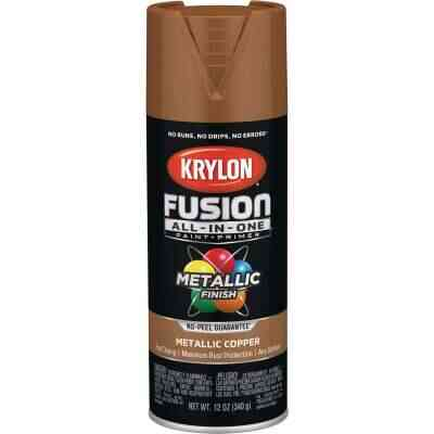 Krylon Fusion All-In-One Metallic Spray Paint & Primer, Copper