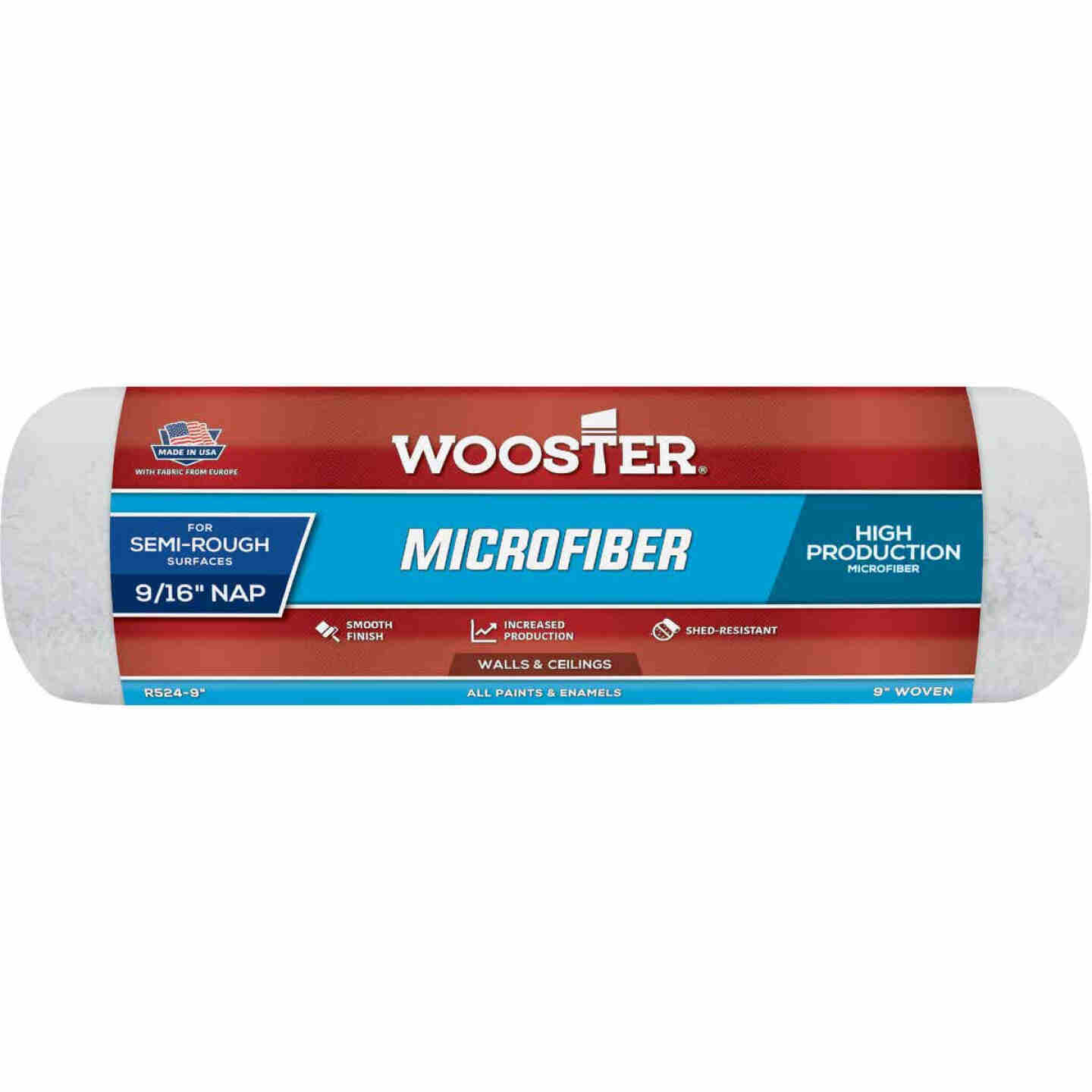Wooster 9 In. x 9/16 In. Microfiber Roller Cover Image 1