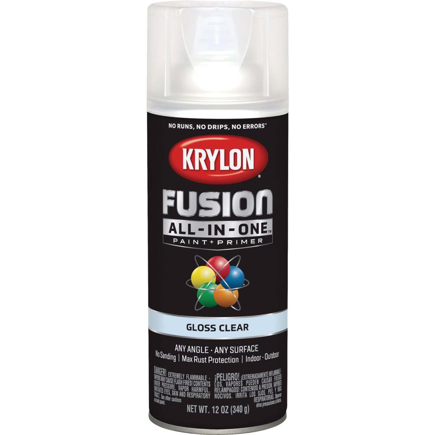 Krylon Fusion All-In-One Gloss Spray Paint & Primer, Clear Image 1