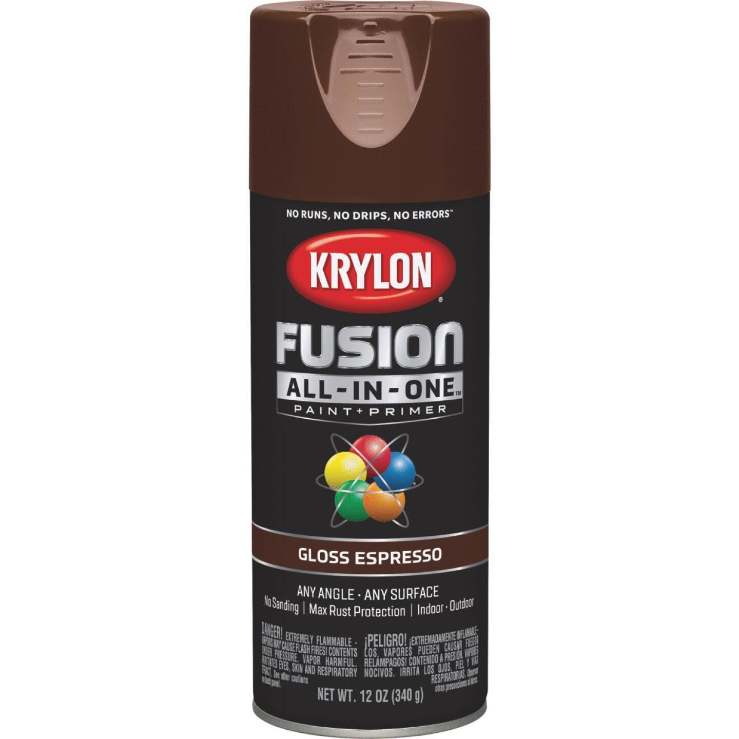 Krylon Fusion All-In-One Gloss Spray Paint & Primer, Espresso Image 1