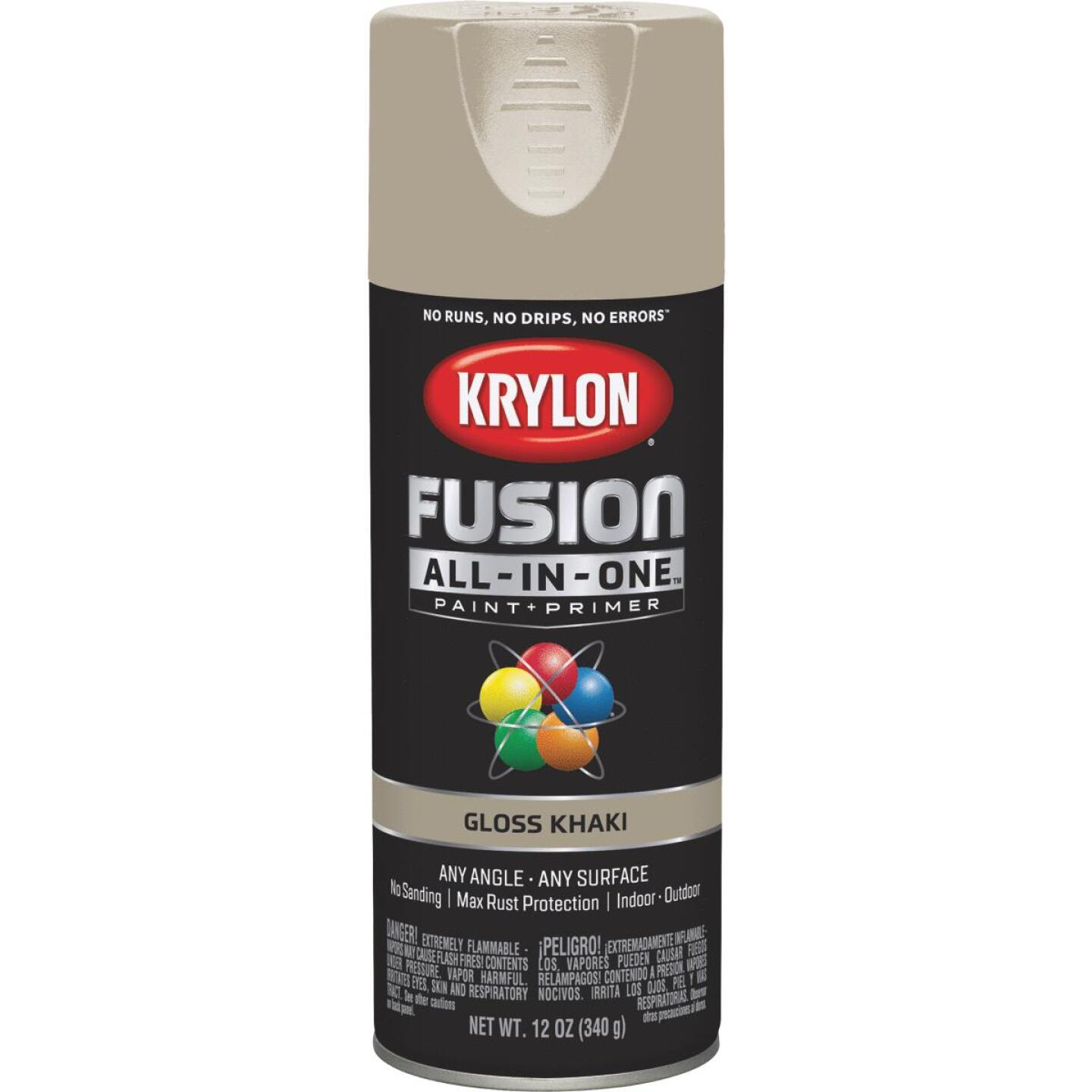 Krylon Fusion All-In-One Gloss Spray Paint & Primer, Khaki Image 1