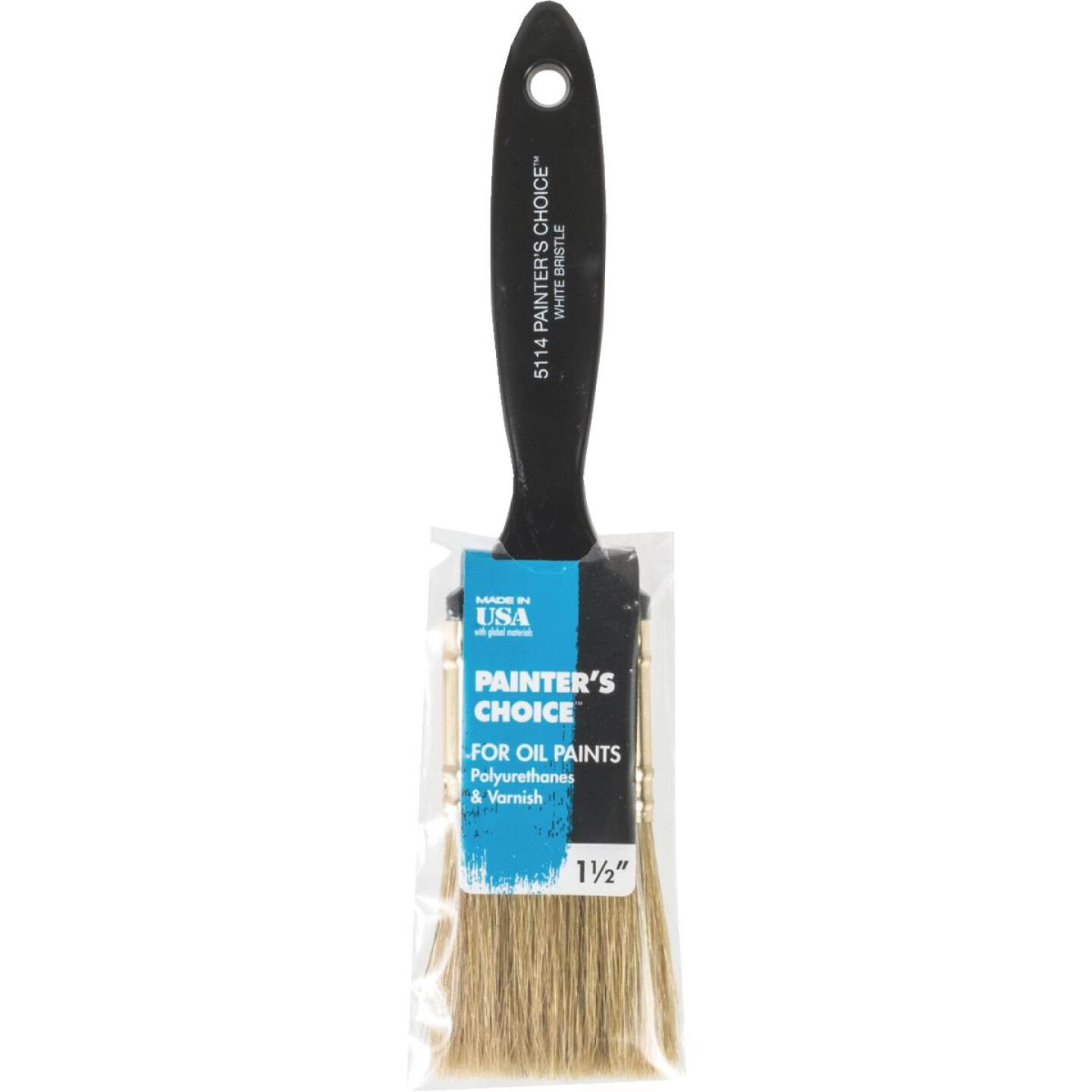 Wooster Painter's Choice 1-1/2 In. White China Bristle Flat Paint Brush Image 1