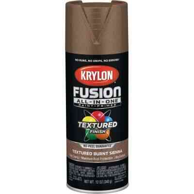 Krylon Fusion All-In-One Textured Spray Paint & Primer, Burnt Sienna