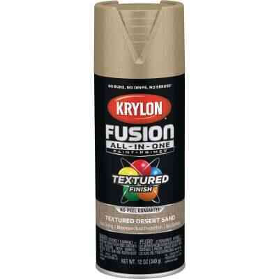 Krylon Fusion All-In-One Textured Spray Paint & Primer, Desert Sand