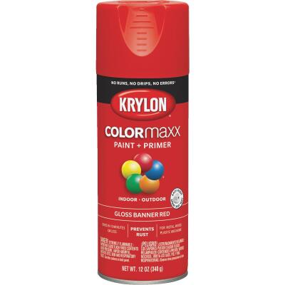 Krylon ColorMaxx 12 Oz. Gloss Spray Paint, Banner Red