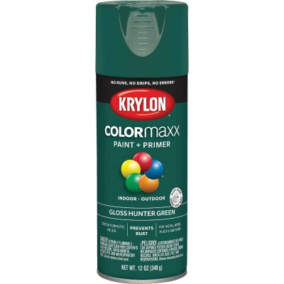 Krylon ColorMaxx 12 Oz. Gloss Spray Paint, Hunter Green