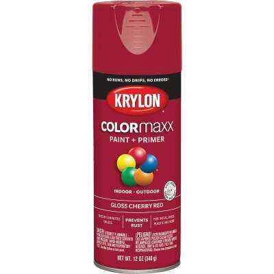Krylon ColorMaxx 12 Oz. Gloss Spray Paint, Cherry Red