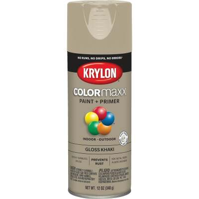 Krylon ColorMaxx 12 Oz. Gloss Spray Paint, Khaki