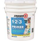 Zinsser Bulls Eye 1-2-3 Water-Base Interior/Exterior Stain Blocking Primer, White, 5 Gal. Image 1