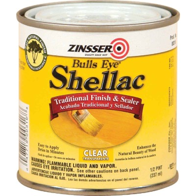 Zinsser Bulls Eye Clear Shellac, 1/2 Pt.