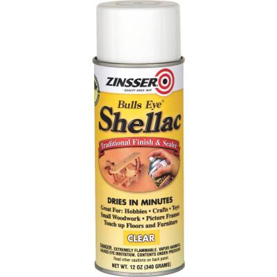 Zinsser Bulls Eye Clear Shellac, 12 Oz. Aerosol Spray
