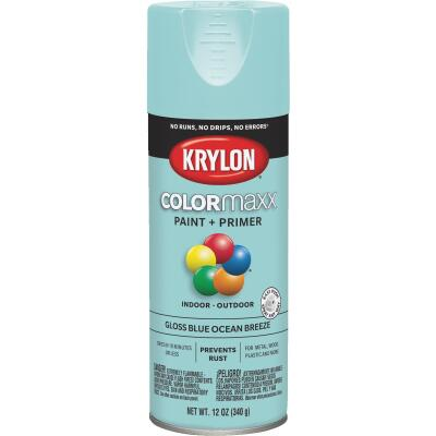 Krylon ColorMaxx 12 Oz. Gloss Spray Paint, Blue Ocean Breeze