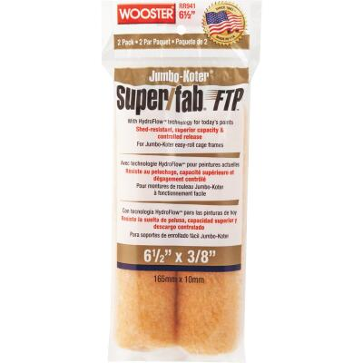 Wooster Jumbo-Koter Super/Fab FTP 6-1/2 In. x 3/8 In. Mini Knit Fabric Roller Cover (2-Pack)
