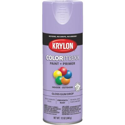 Krylon ColorMaxx12 Oz. Gloss Spray Paint, Gum Drop
