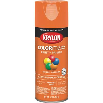 Krylon ColorMaxx 12 Oz. Gloss Spray Paint, Pumpkin Orange
