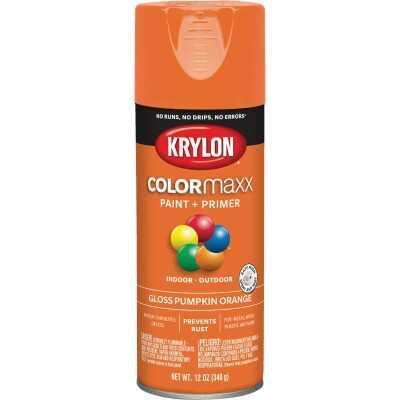 Krylon ColorMaxx 12 Oz. Gloss Spray Paint, Pumpkin Orange