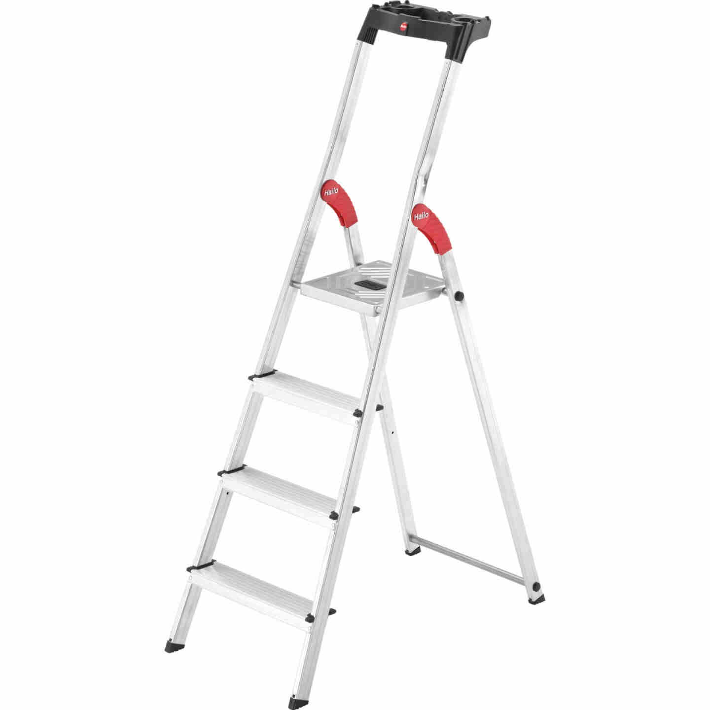 Hailo L60 5 Ft. Aluminum Step Ladder with 330 Lb. Load Capacity Image 1